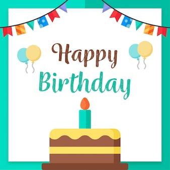 Happy birthday celebration banner design