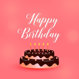 С днем рождения торты с свечами
