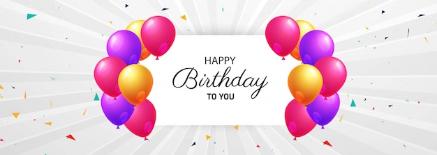 Happy birthday celebration card creative banner background