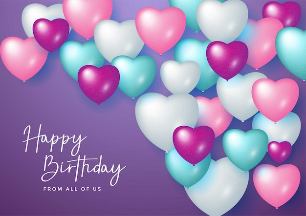 Happy birthday celebration design for greeting card