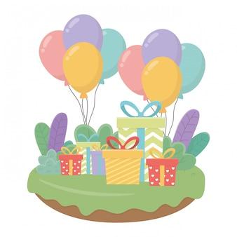 Happy birthday and celebration gift