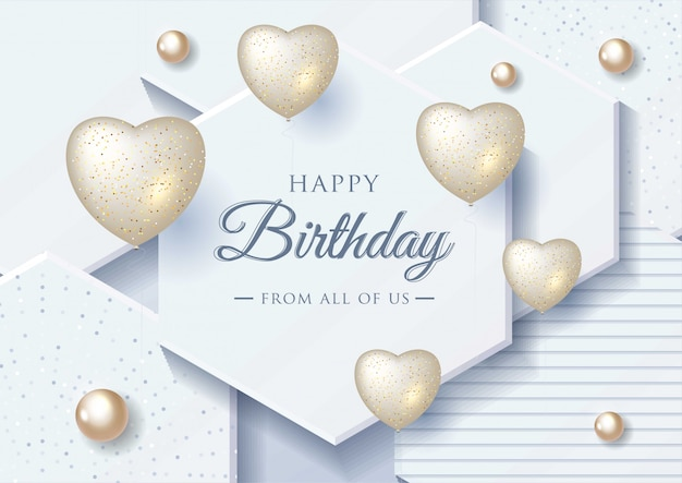 Happy birthday celebration greeting card
