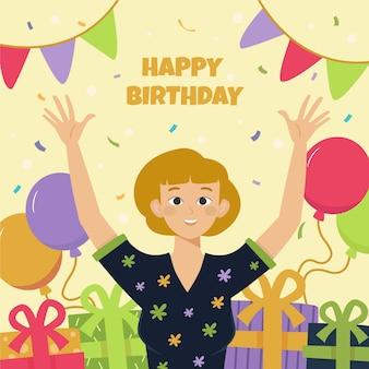 お誕生日おめでとうお祝いイラスト