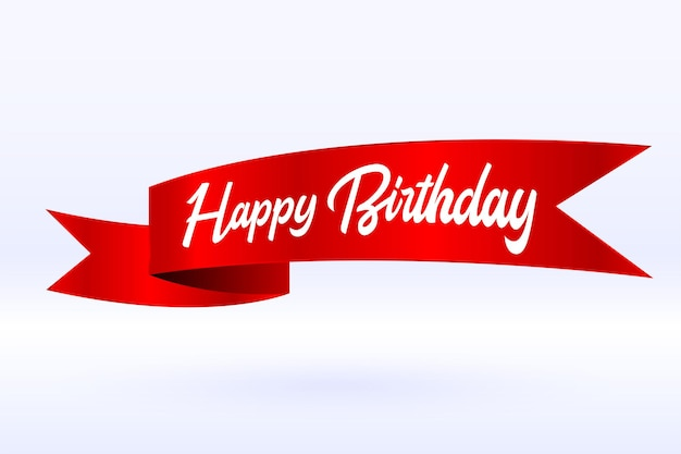 Happy birthday celebration ribbon background
