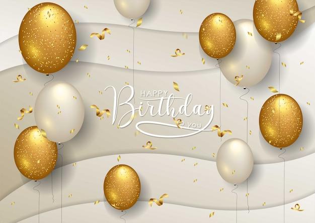Happy birthday celebration typography design card