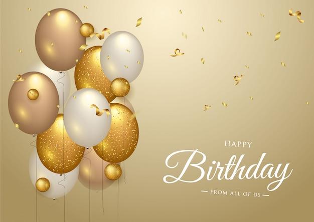 С днем рождения праздник типография дизайн для поздравительной открытки