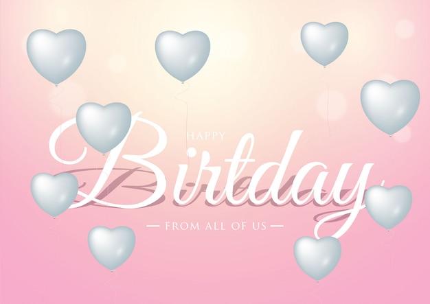 Happy birthday celebration typography design for greeting card