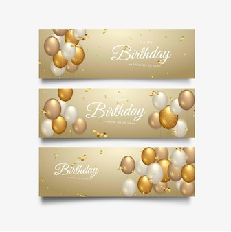 Happy birthday celebration typography for greeting banner