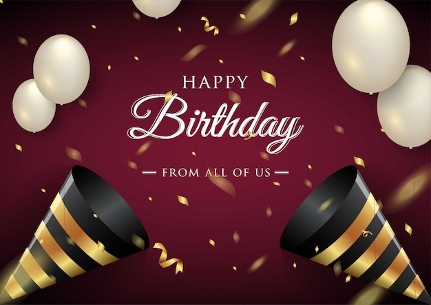 Happy birthday celebration typography  for greeting card