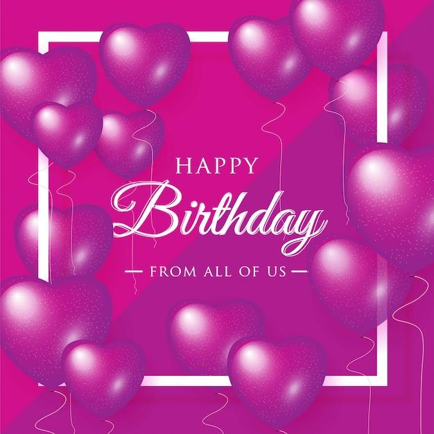Happy birthday celebration typography