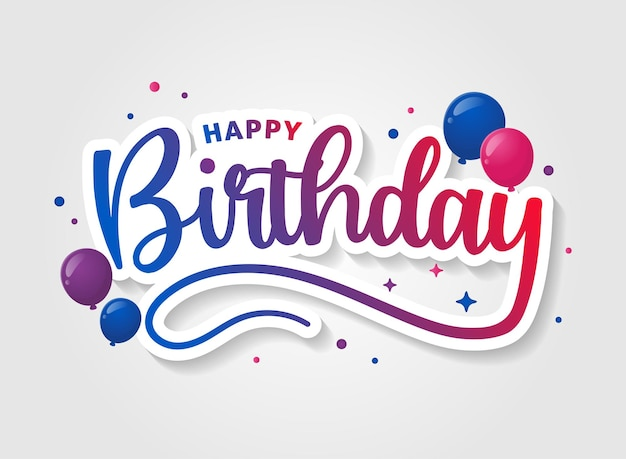 Happy birthday colorful font