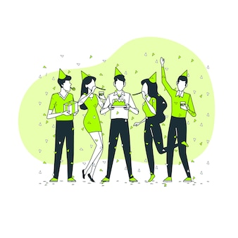 Happy birthday concept illustration