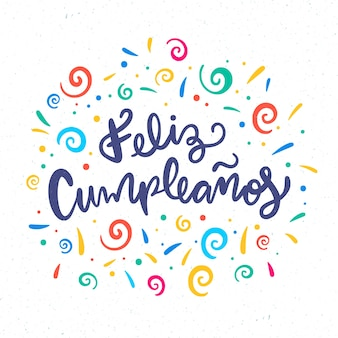 Happy birthday concept lettering