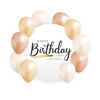 Happy birthday congratulations greeting card