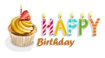 С днем рождения, кексы