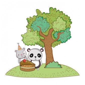 Happy birthday cute animals