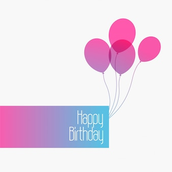 Happy birthday cute minimal greeting background