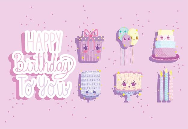 Happy birthday cute set