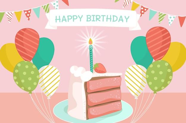 Invito di design di buon compleanno