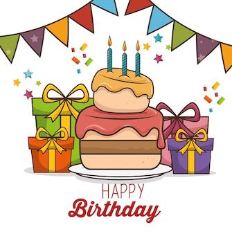 Happy birthday design isolated