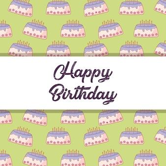 Happy birthday design with decorative frame