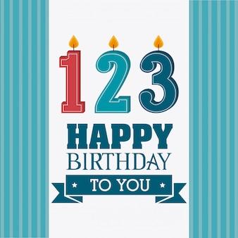 Happy birthday design.