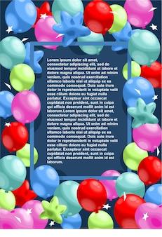 С днем рождения праздничный шаблон