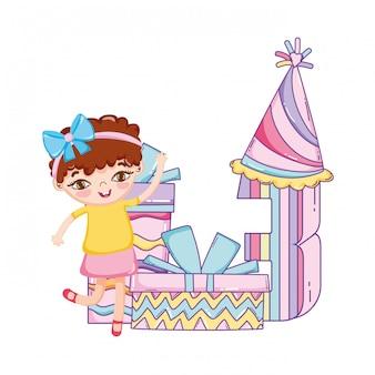 Happy birthday girl cartoons