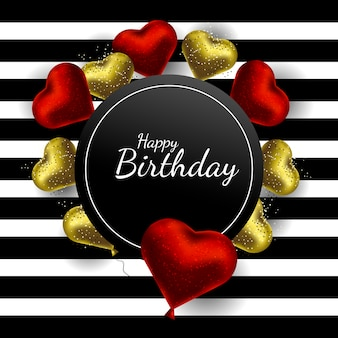 Happy birthday greeting card romantic