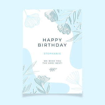 Happy birthday greeting template