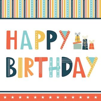 Happy birthday greetings with border