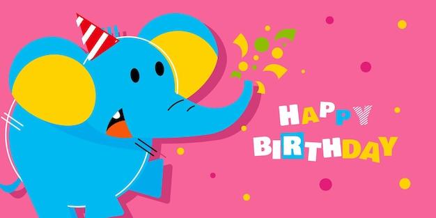 Happy birthday, holiday, baby shower celebration greeting and invitation card.