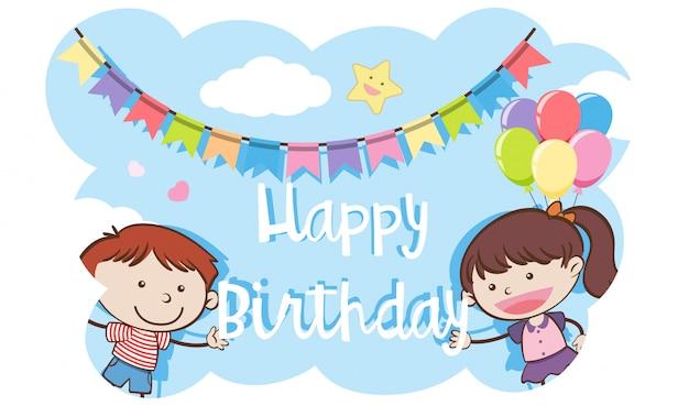 A happy birthday kids template
