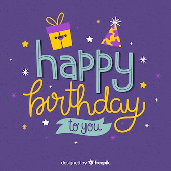 お誕生日おめでとうレタリング記念日
