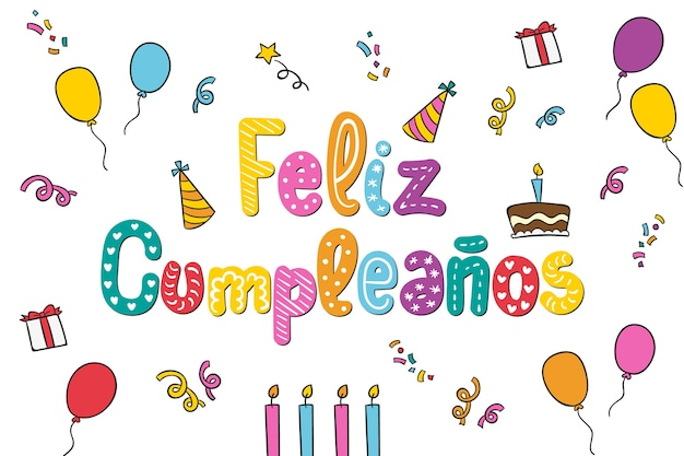 Happy birthday lettering background