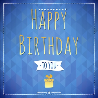 Happy birthday lettering card