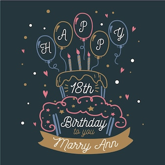 Happy birthday lettering concept