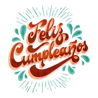 Happy birthday lettering concept