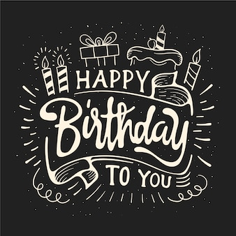 Happy birthday lettering design