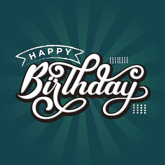 Happy birthday lettering in retro style
