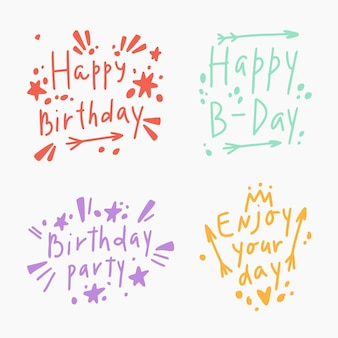 自由奔放に生きるスタイルで設定されたお誕生日おめでとうレタリング