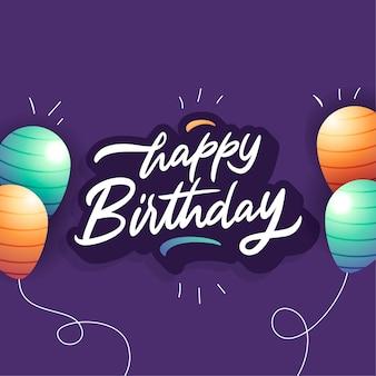 Happy birthday lettering style