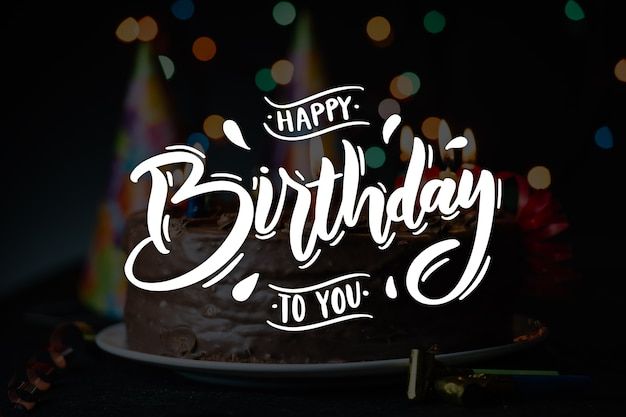 Happy birthday lettering theme