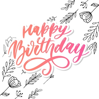 Happy birthday lettering
