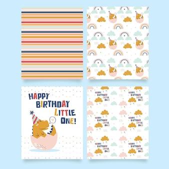 お誕生日おめでとう小さな1枚の印刷可能なカード
