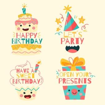 Happy birthday logo collection