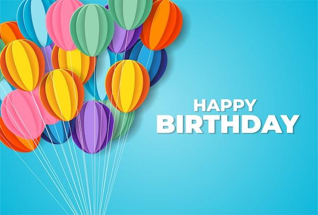 お誕生日おめでとうペーパーカットスタイル