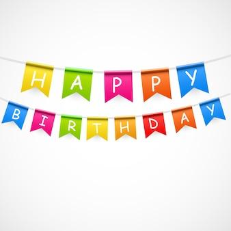 플래그 벡터 일러스트와 함께 생일 파티 배경입니다. eps10