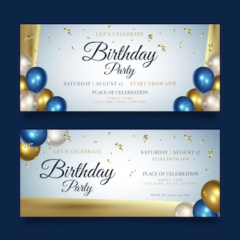 Happy birthday party banner template