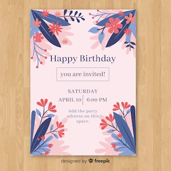 Happy birthday party invitation template